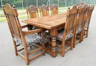 Oak Dining Room Suite by Hines of Oxford